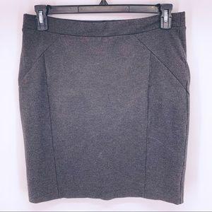 Mario Serrani Gray Stretch Mini Pencil Skirt Sz L